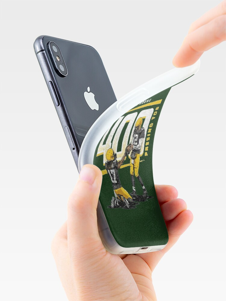 Alternate view of Rodgers and Adams 400 passing tos for Green Bay Packers fans iPhone Case & Cover