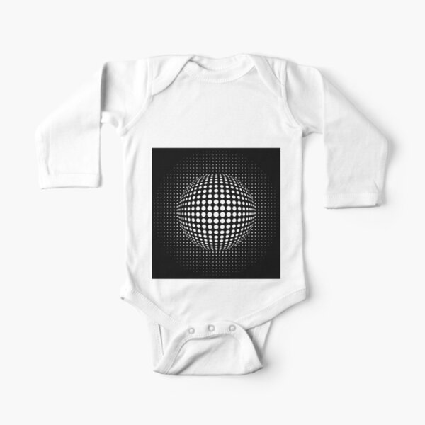 Psychedelic Art, Psychedelia, Psychedelic Pattern, 3d illusion Long Sleeve Baby One-Piece
