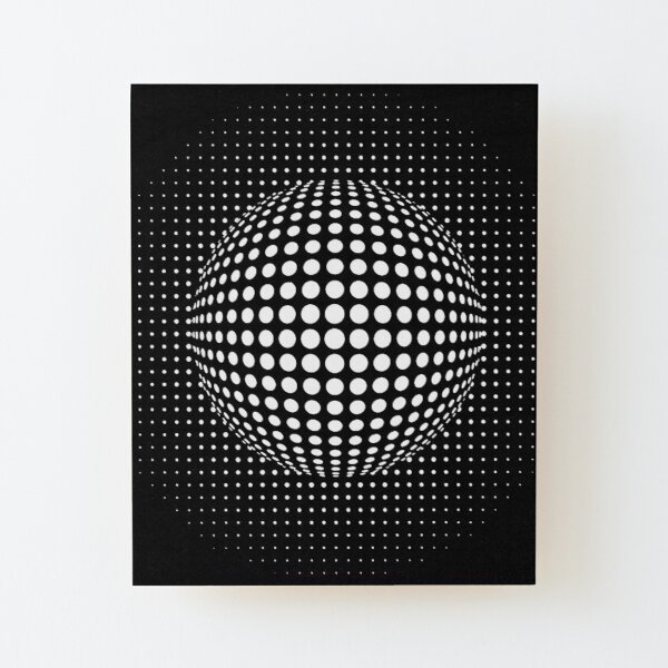 Psychedelic Art, Psychedelia, Psychedelic Pattern, 3d illusion Wood Mounted Print