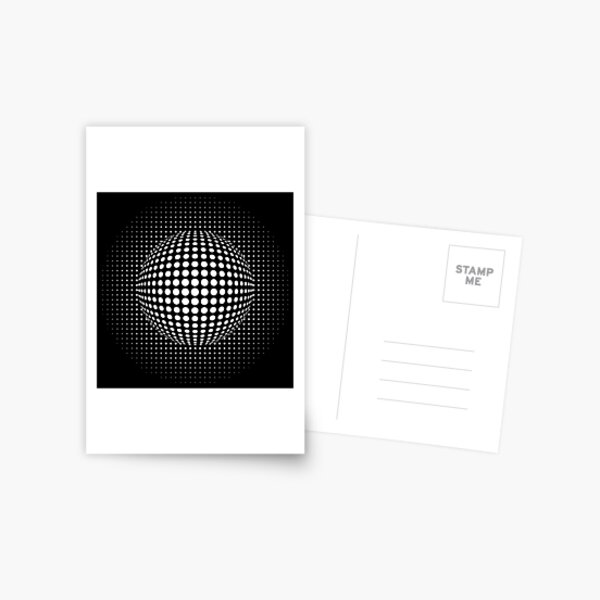 Psychedelic Art, Psychedelia, Psychedelic Pattern, 3d illusion Postcard
