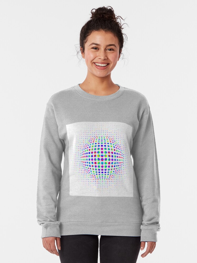 Alternate view of Psychedelic Art, Psychedelia, Psychedelic Pattern, 3d illusion Pullover Sweatshirt