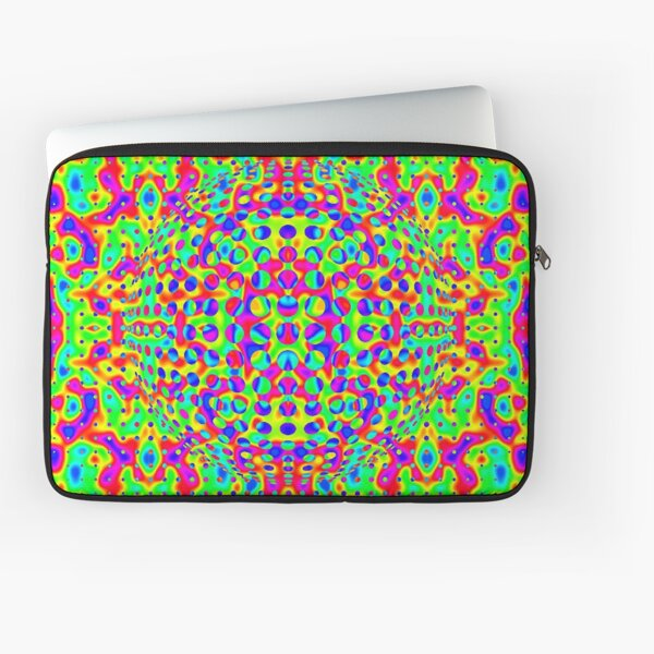 Psychedelic Art, Psychedelia, Psychedelic Pattern, 3d illusion Laptop Sleeve