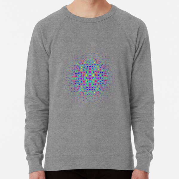 Psychedelic Art, Psychedelia, Psychedelic Pattern, 3d illusion Lightweight Sweatshirt