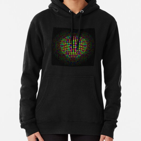 Psychedelic Art, Psychedelia, Psychedelic Pattern, 3d illusion Pullover Hoodie