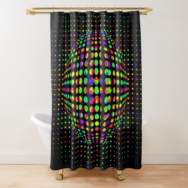 Psychedelic Art, Psychedelia, Psychedelic Pattern, 3d illusion Shower Curtain