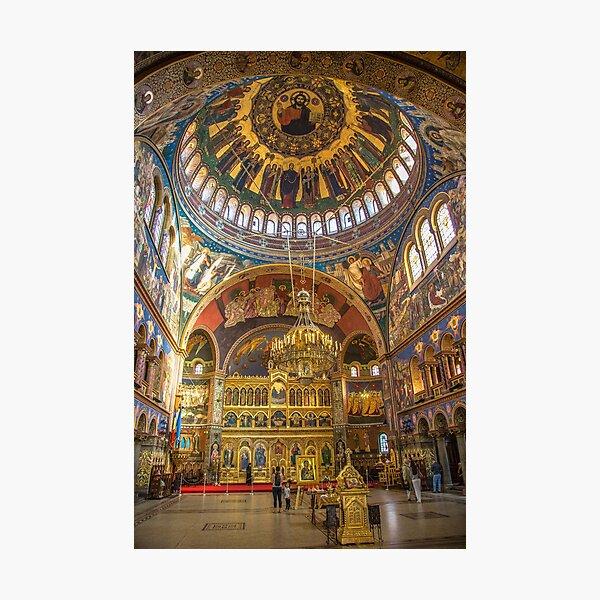 Romania. Transylvania. Sibiu. Orthodox Cathedral. Interior. Photographic Print