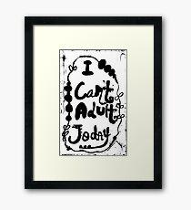Rachel Doodle Art - I Can't Adult Today Framed Print