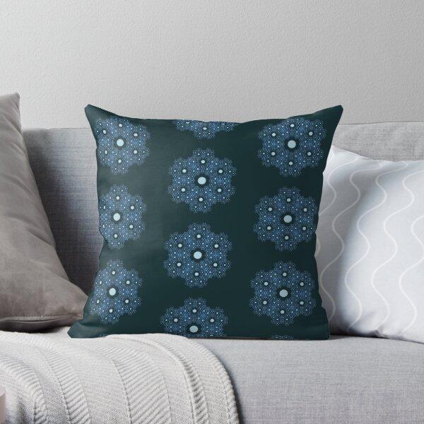 Deep Sea Snowflake Throw Pillow