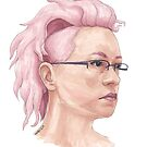Pink Hair by Tabita Harvey