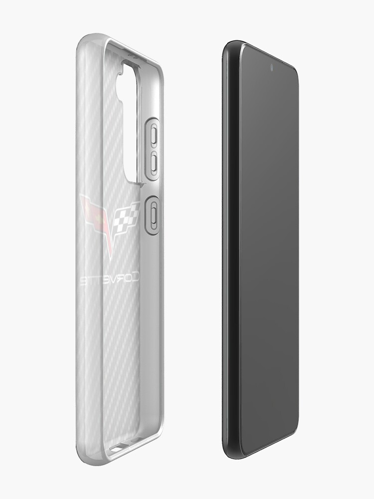 Alternate view of Corvette logo with Carbon Case & Skin for Samsung Galaxy