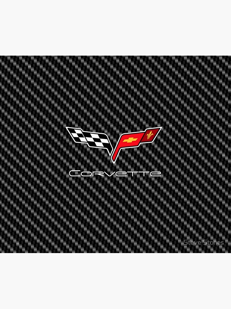 Corvette logo with Carbon by stevestones