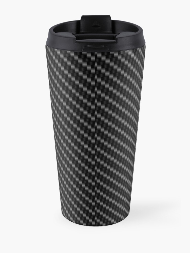 Alternate view of Corvette logo with Carbon Travel Mug