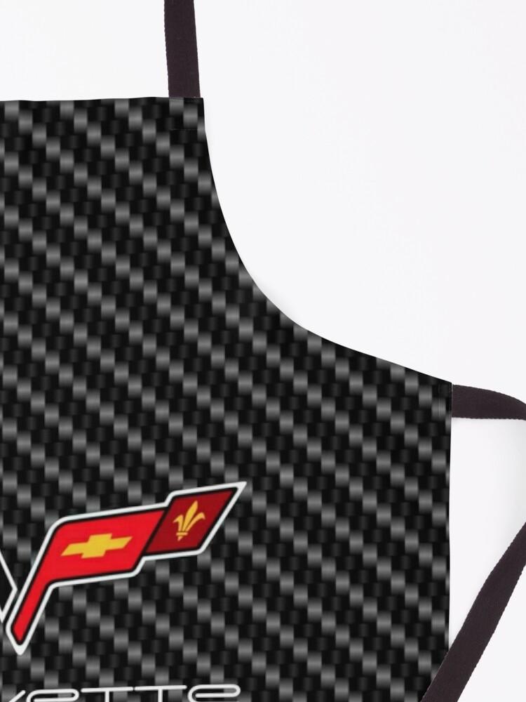 Alternate view of Corvette logo with Carbon Apron