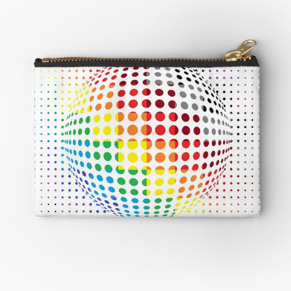 Psychedelic Art, Psychedelia, Psychedelic Pattern, 3d illusion Zipper Pouch