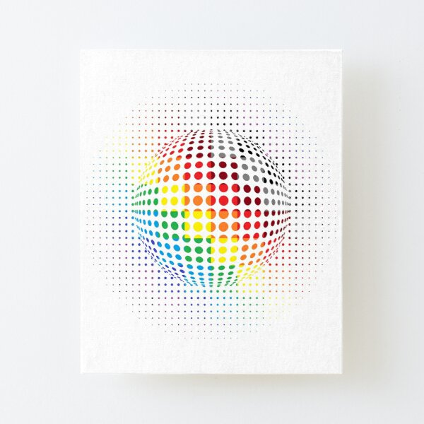 Psychedelic Art, Psychedelia, Psychedelic Pattern, 3d illusion Canvas Mounted Print
