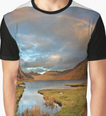 Wasdale and Wastwater Rainbow in the English Lake District Graphic T-Shirt