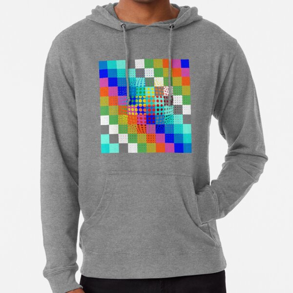 Psychedelic Art, Psychedelia, Psychedelic Pattern, 3d illusion Lightweight Hoodie