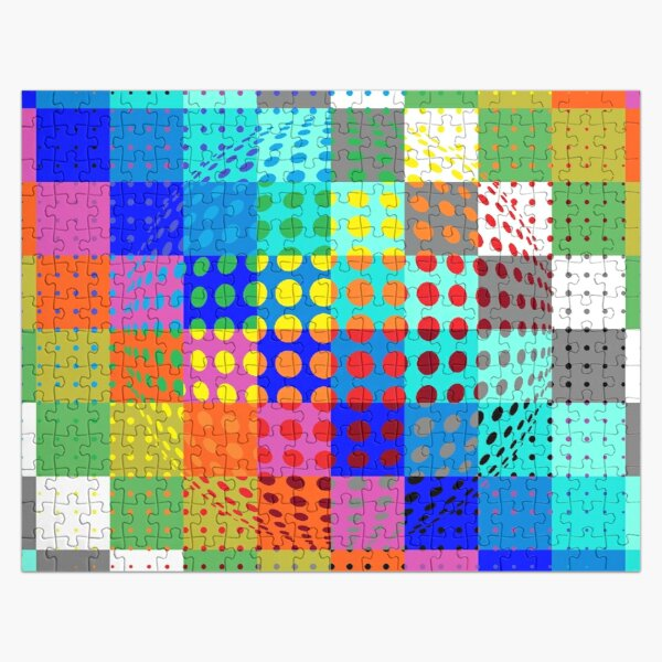 Psychedelic Art, Psychedelia, Psychedelic Pattern, 3d illusion Jigsaw Puzzle