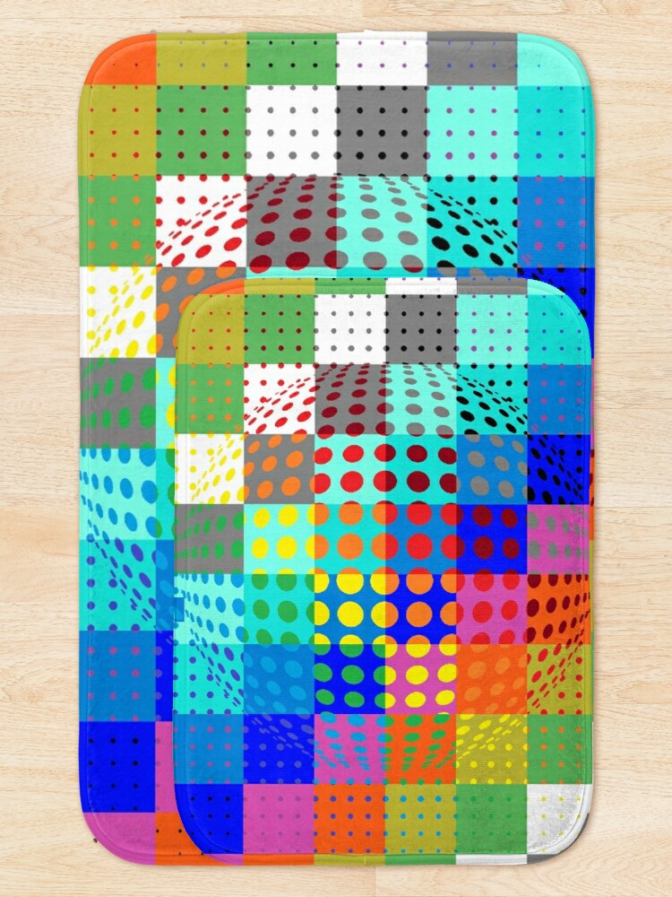 Alternate view of Psychedelic Art, Psychedelia, Psychedelic Pattern, 3d illusion Bath Mat