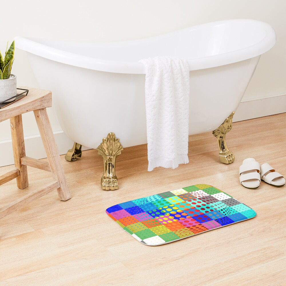 Psychedelic Art, Psychedelia, Psychedelic Pattern, 3d illusion Bath Mat