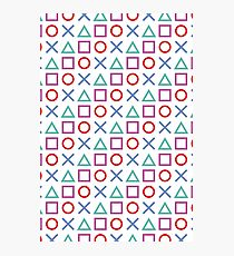 Gamer Pattern White Photographic Print