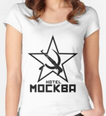 Black Lagoon Hotel Moscow Women's Fitted Scoop T-Shirt