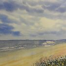 Bridlington South Bay from the Dunes by Glenn  Marshall