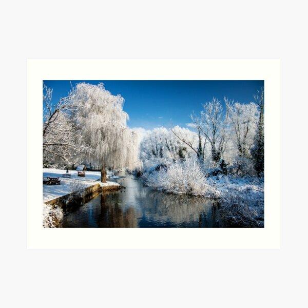 Winter River - Norfolk, UK Art Print