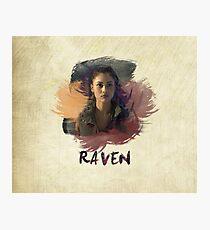 Raven - The 100 -  Brush Photographic Print