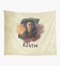Raven - The 100 -  Brush Wall Tapestry
