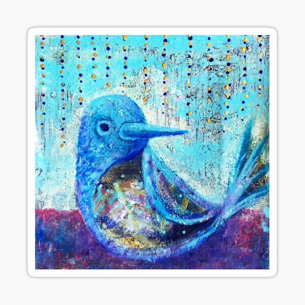 Bluebird of Happiness - Inner Power Painting by Magic with Mellie Sticker
