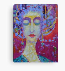 Woman in Love Female portrait painting Figurative Abstract Art Canvas Print