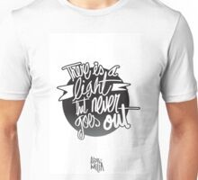 There is a light Unisex T-Shirt