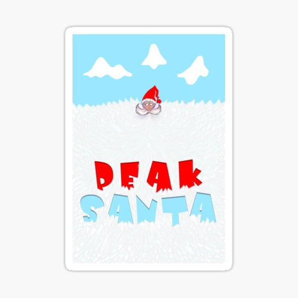 Peak Santa Sticker
