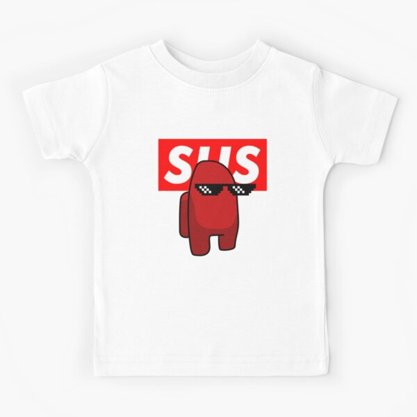 Sus  Among Us Red Imposter supreme Kids T-Shirt