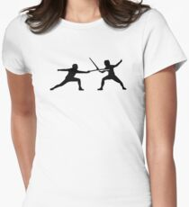 Fencing Women's Fitted T-Shirt
