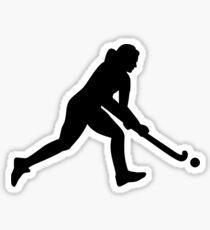 Field hockey girl Sticker