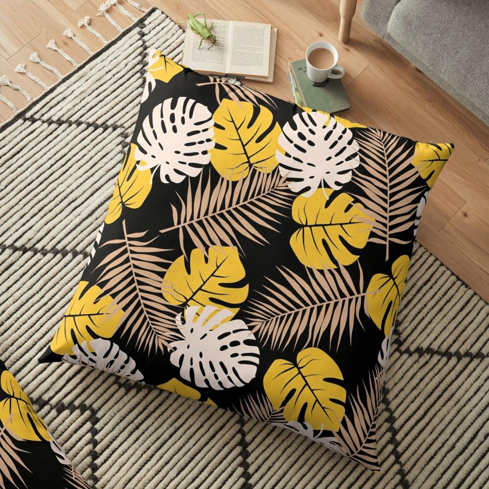 Mustard Silhouette Floor Pillow