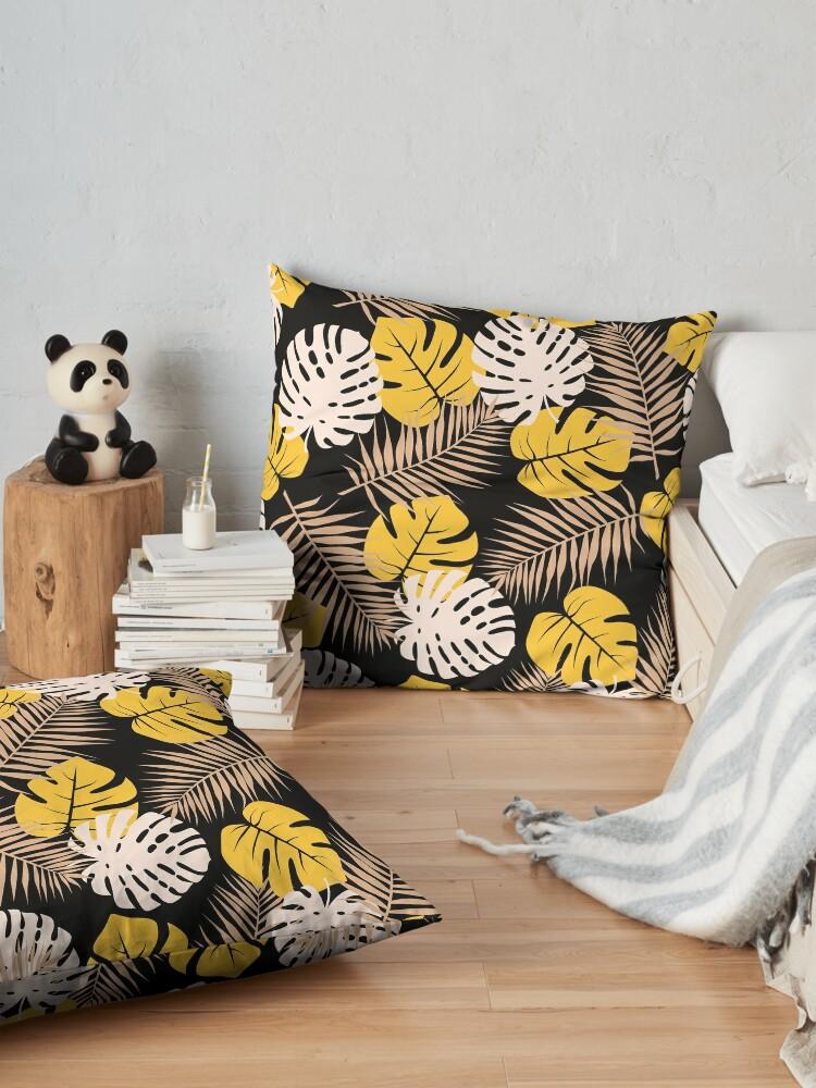 Alternate view of Mustard Silhouette Floor Pillow