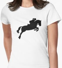 Show jumping Women's Fitted T-Shirt