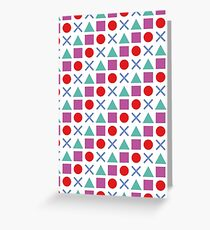 Gamer Pattern Solid White Greeting Card