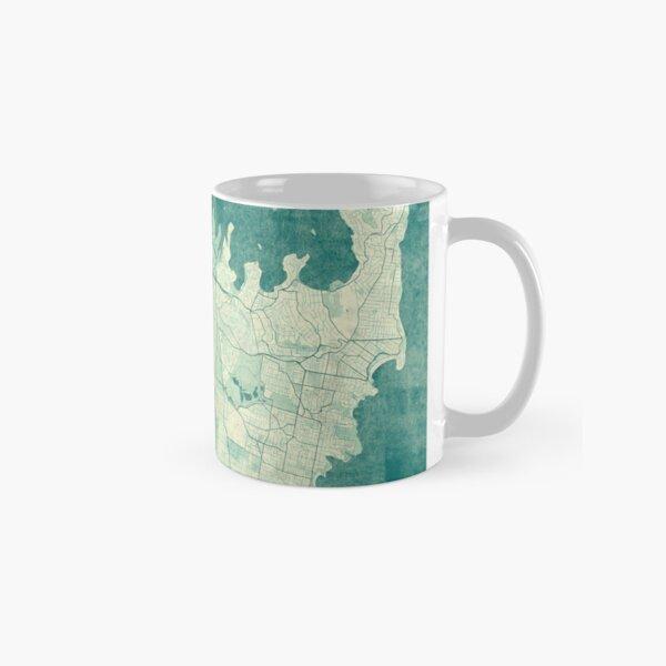 Sydney Map Blue Vintage Classic Mug