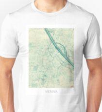 Vienna Map Blue Vintage T-Shirt