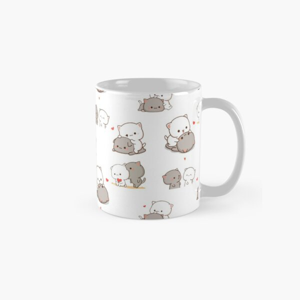 Mochi Peach and Goma Cute Cat Love Sticker Pack Classic Mug