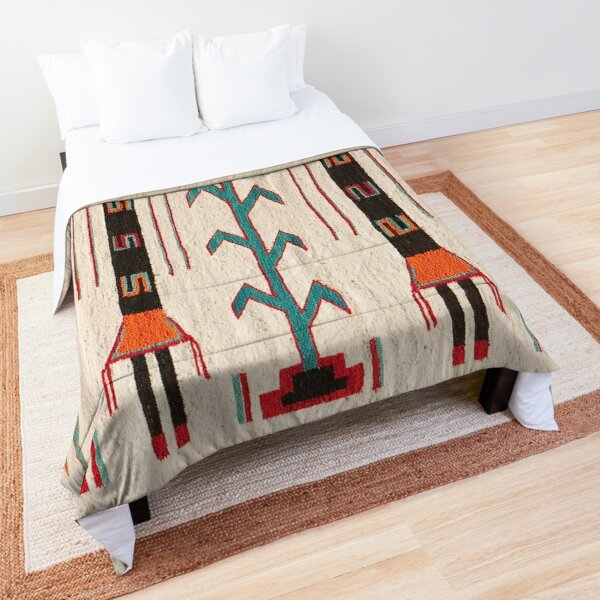 NAVAJO 1950 BLANKET SCAN - GENUINE NATIVE AMERICAN ART Comforter