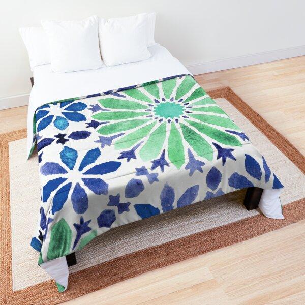 Colorful moroccan tiles Comforter