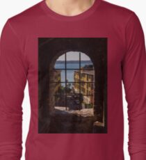 View on Lake Garda and Sirmione Old city in Italy T-Shirt