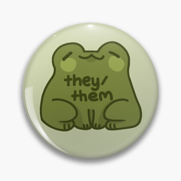 They/Them Frog Pronouns Pin