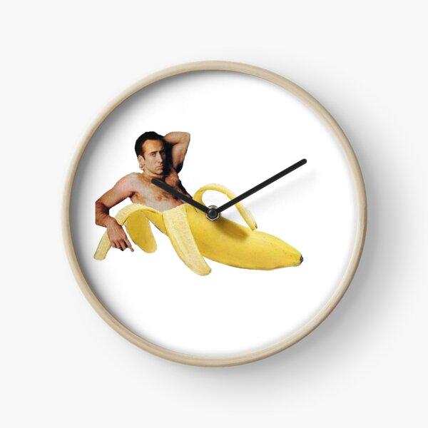 Nicolas Cage In A Banana - Original Yellow Clock