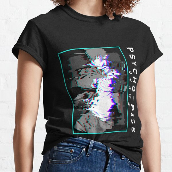 Shinya Kougami Glitchy Psycho pass T-shirts and stickers Classic T-Shirt